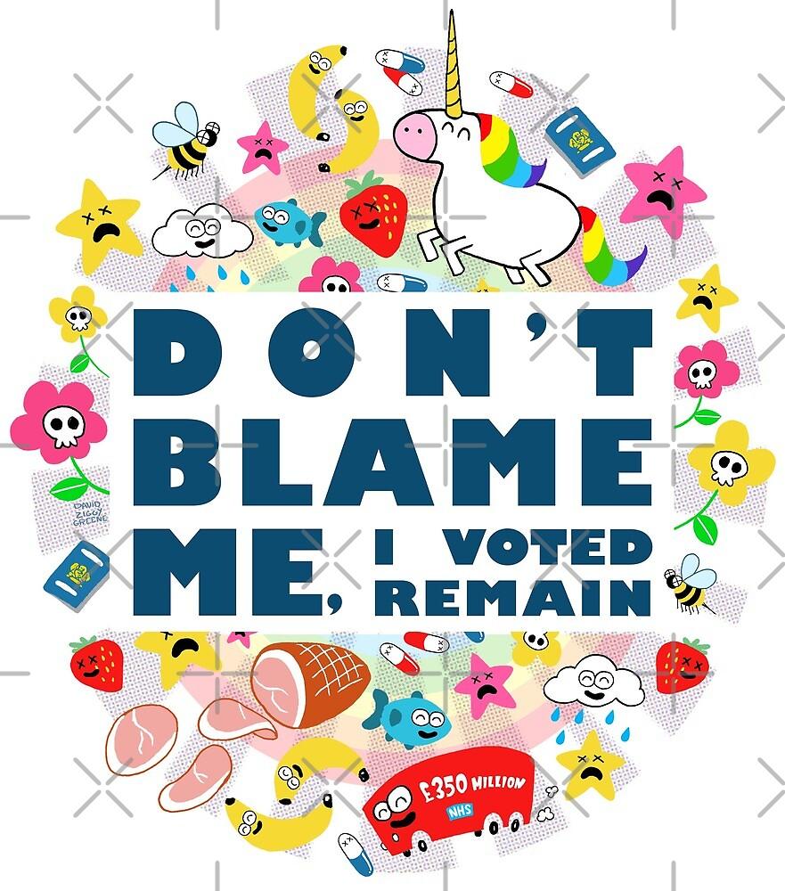 Don't Blame Me - White by dzgreene