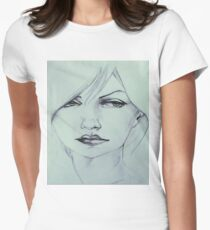 Acrylic Artwork Art Painting Inspiration Graphic Print Women's Fitted T-Shirt