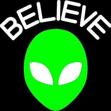 Believe Green Alien Head by xsylx