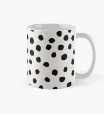 Preppy brushstroke free polka dots black and white spots dots dalmation animal spots design minimal Mug
