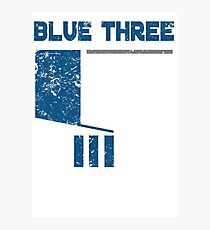 Blue 3 Photographic Print
