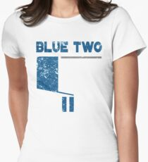 Blue 2 Women's Fitted T-Shirt