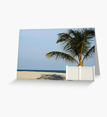 Beach view Greeting Card