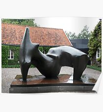 Sculpture by Henry Moore Poster