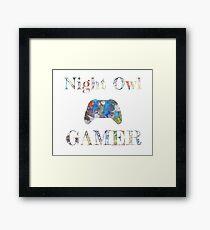 Night Owl Gamer Colored Framed Print