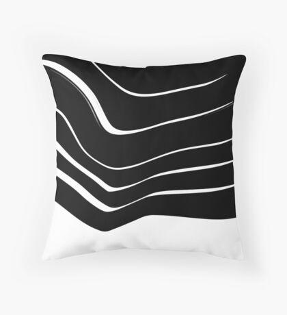 Organic No. 10 Black & White #minimalistic #design #artprints #redbubble Throw Pillow