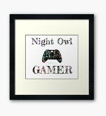 Night Owl Gamer  Framed Print
