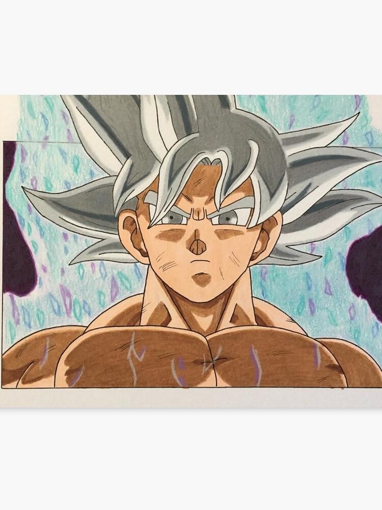 Goku Ultra Instinct One Of A Kind Hand Drawn Canvas Print