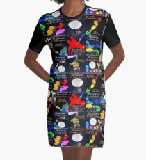 Dinosaurs in Outer Space, The Book of Yawns, Adventure 4 Graphic T-Shirt Dress