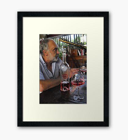 A Vintner and his wine Framed Print
