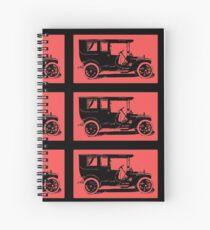 1909 Packard Limousine Pop Tee Spiral Notebook