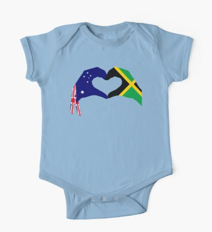We Heart Australia & Jamaica Patriot Flag Series Kids Clothes
