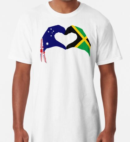 We Heart Australia & Jamaica Patriot Flag Series Long T-Shirt