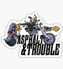 Asphalt & Trouble - Light Sticker