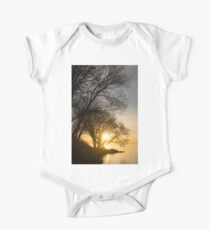 Early Gold Through the Willow Branches - A Sunrise on the Shore of Lake Ontario One Piece - Short Sleeve