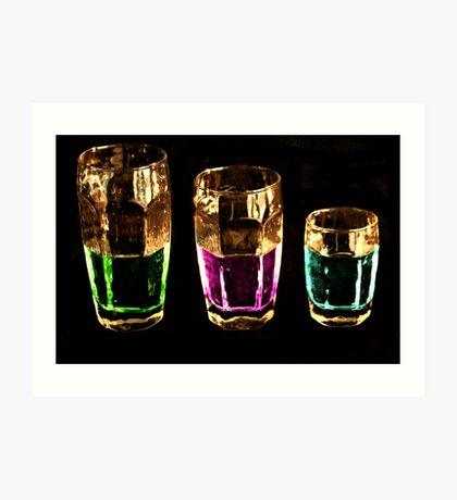 Colors Drink Art Print