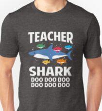 Teacher Shark Doo Doo Doo Funny Teaching Baby Shark Unisex T-Shirt
