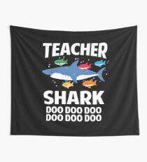 Lehrer Shark Funny Teaching Baby Shark Wandbehang