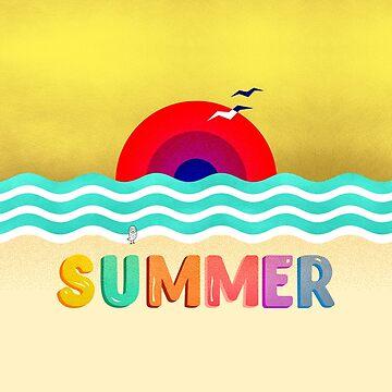 HOT SUMMER on the beach by OwlyChic