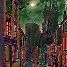 Rainy Night in Kirkgate by Glenn Marshall