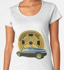 Camiseta premium de cuello ancho 1979 Lotus Esprit S2 mediados de motor deportivo - Edición conmemorativa