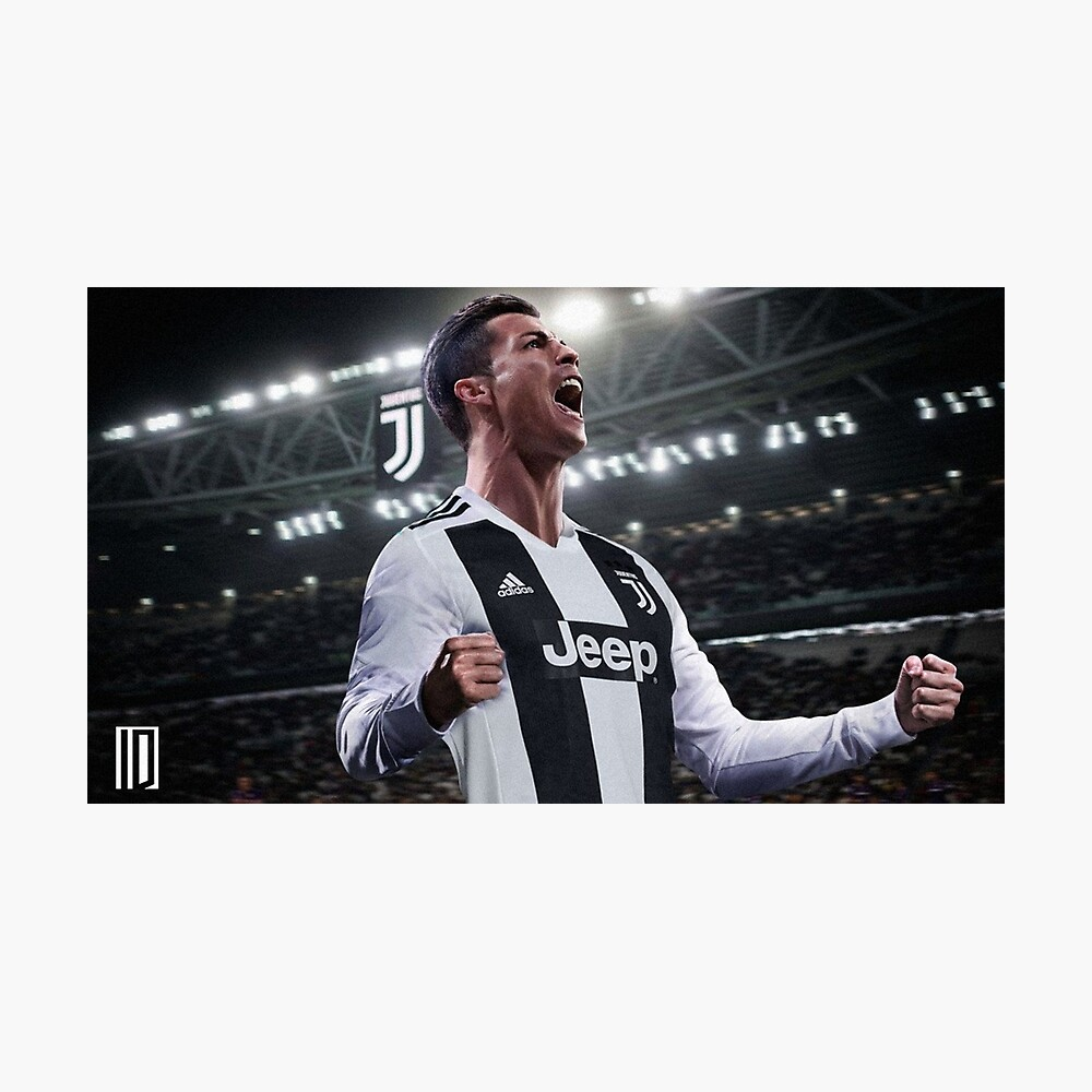 Cristiano Ronaldo Juve CR7 Fotodruck