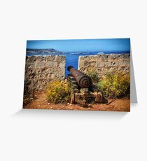 St Mary's Battery Cannon Greeting Card