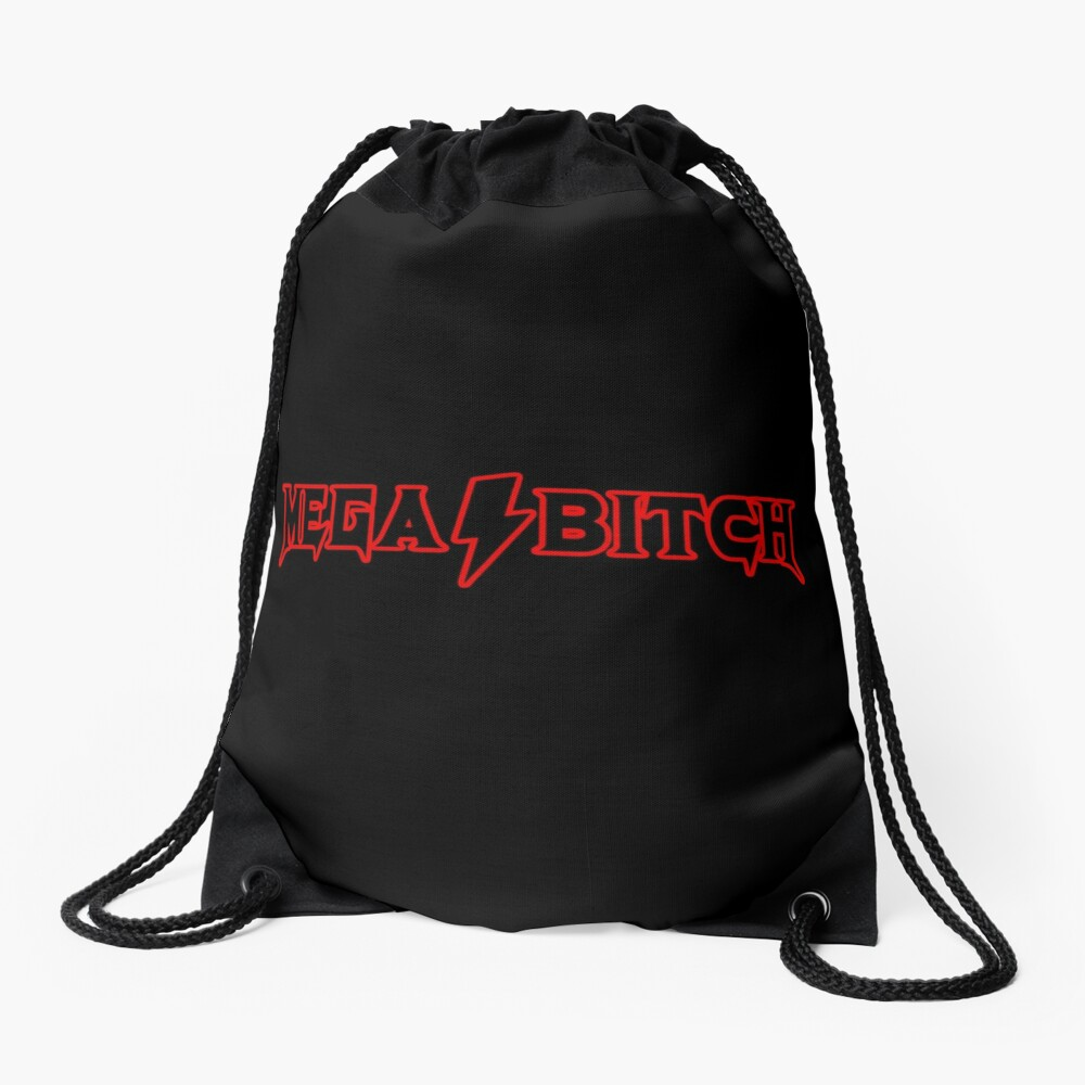 MEGABITCH Drawstring Bag Front