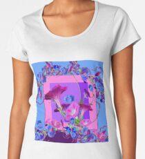 PURPLE & BLUE MORNING GLORY VINES   Women's Premium T-Shirt