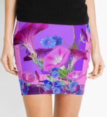 PURPLE & BLUE MORNING GLORY VINES   Mini Skirt