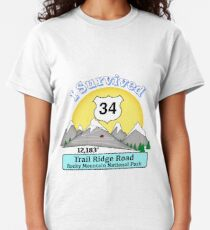 I Survived Trail Ridge Road, Rocky Mt. National Park Classic T-Shirt