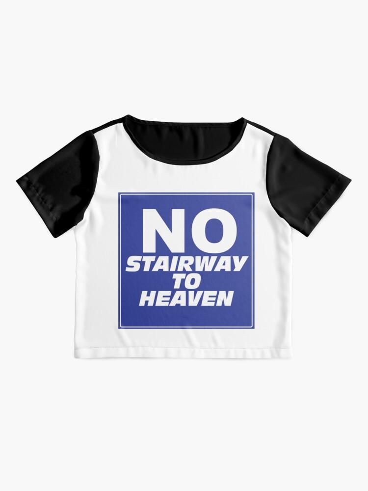 Alternate view of Wayne's World No Stairway to Heaven Sign Chiffon Top