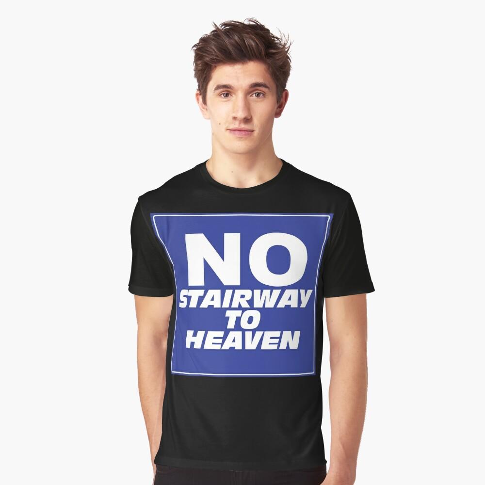 Wayne's World No Stairway to Heaven Sign Graphic T-Shirt