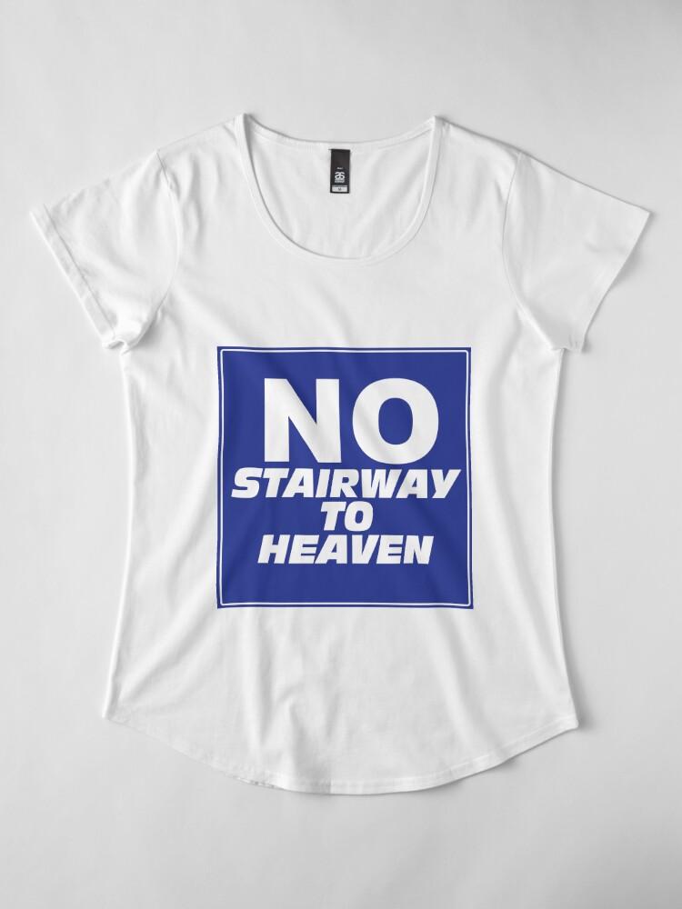 Alternate view of Wayne's World No Stairway to Heaven Sign Premium Scoop T-Shirt