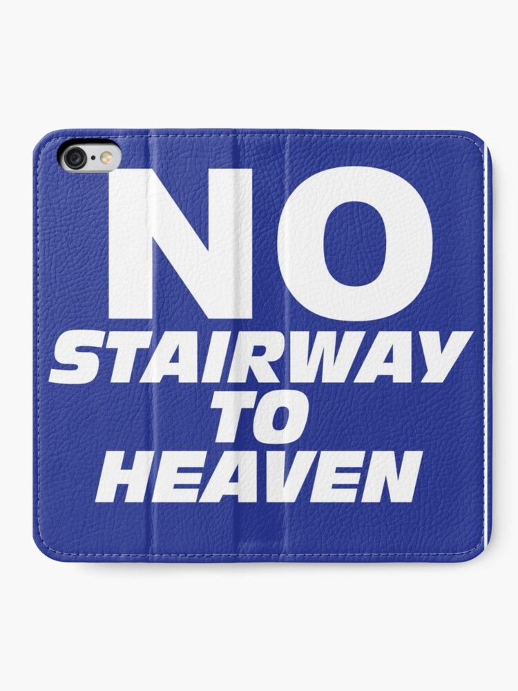 Alternate view of Wayne's World No Stairway to Heaven Sign iPhone Wallet