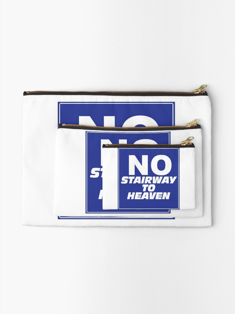 Alternate view of Wayne's World No Stairway to Heaven Sign Zipper Pouch