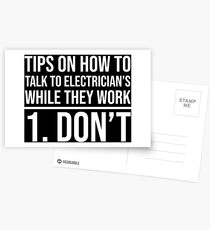 Funny Sarcastic Electrician's Co-Worker T-shirt Postcards