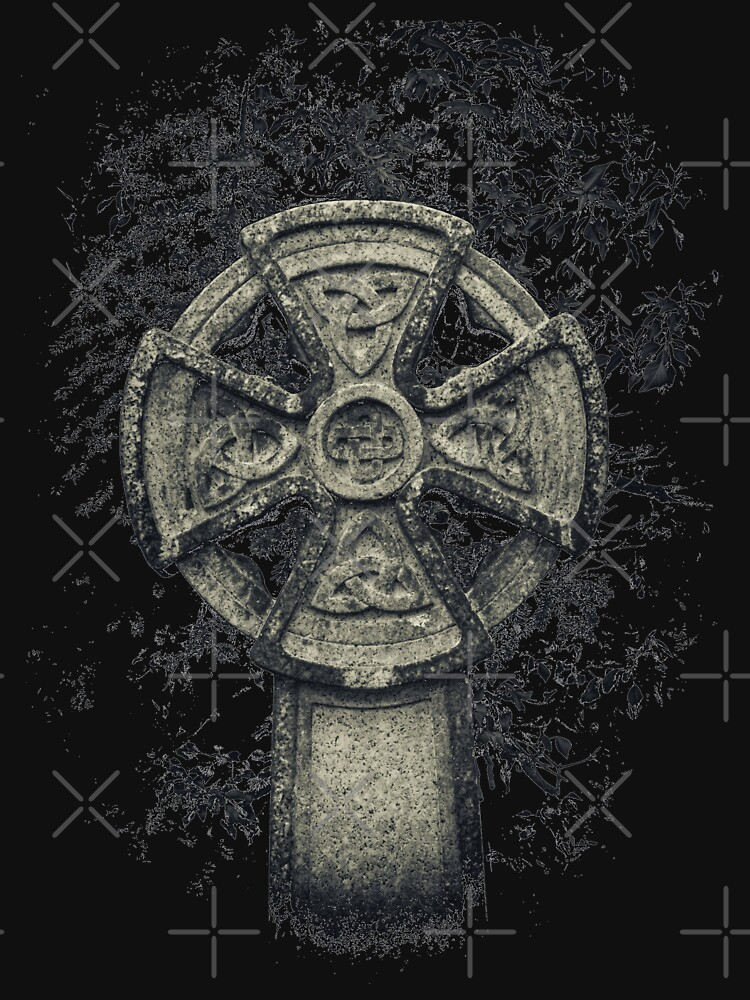 Celtic Cross Manx Graveyard Cemetery Viking Knot Traditional by thespottydogg