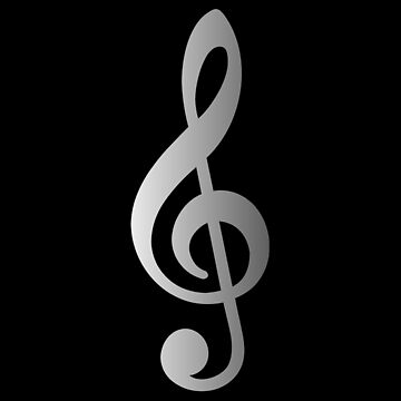 G Key Music Symbol Silver Color by barminam