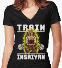 Train Insane - Super SS Deadlift Women's Fitted V-Neck T-Shirt
