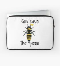 God Save the Queen Bees Laptop Sleeve