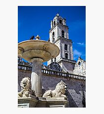 Cuba. Havana. Plaza de San Francisco. Fountain and Bell Tower. Photographic Print