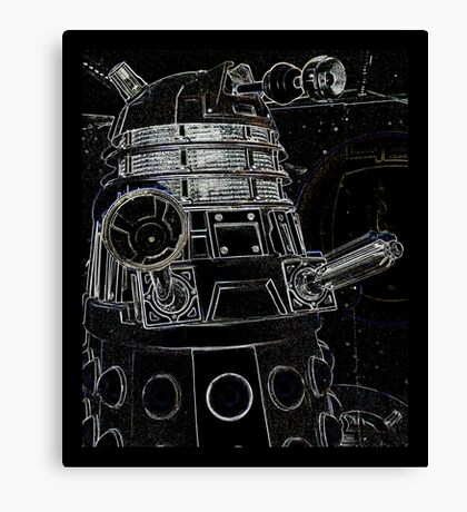 Black Dalek Canvas Print