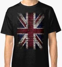 Grunge UK Flag, Great Britain, Punk Style Distressed Wall Classic T-Shirt
