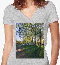 Morning Women's Fitted V-Neck T-Shirt