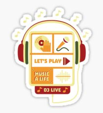 Lets Play Music Sticker