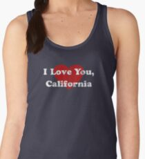 I Love You California CA State Hometown Love Pride T-Shirt Women's Tank Top