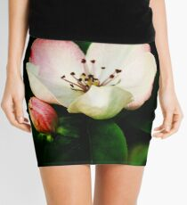 Quince Pink Flower and Bud Mini Skirt