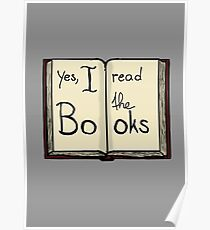 Yes, I read the books Poster