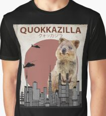 Quokkazilla Giant Quokka Monster Parody Graphic T-Shirt